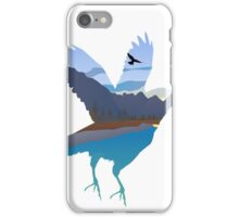 Raven in the valley iPhone Case/Skin