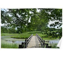 Little ole' bridge over the water Poster