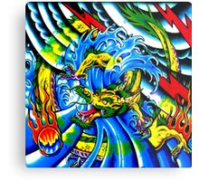 Oriental Tattoo Dragon Fantasy Metal Print