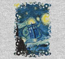 British Blue phone box painting One Piece - Long Sleeve