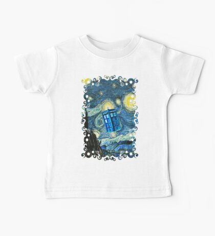 British Blue phone box painting Baby Tee