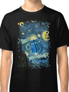 British Blue phone box painting Classic T-Shirt