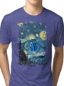 British Blue phone box painting Tri-blend T-Shirt