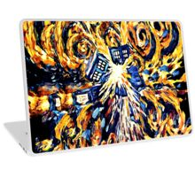 Big Bang Attack Exploded Flamed Phone booth painting Laptop Skin