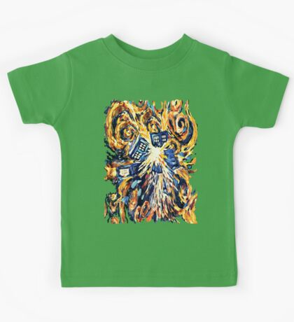 Big Bang Attack Exploded Flamed Phone booth painting Kids Tee