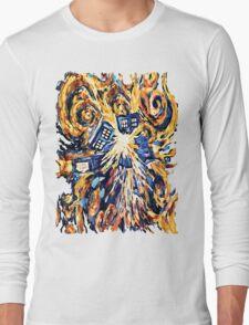 Big Bang Attack Exploded Flamed Phone booth painting Long Sleeve T-Shirt