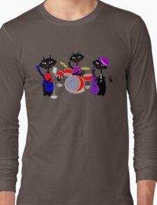 Cool For Cats Music Themed Long Sleeve T-Shirt