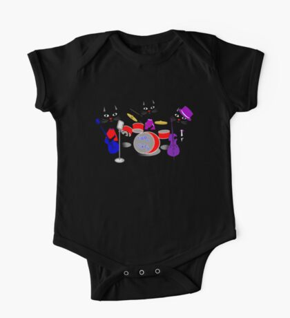 Cool For Cats Music Themed One Piece - Short Sleeve