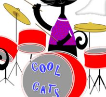 Cool For Cats Music Themed Sticker