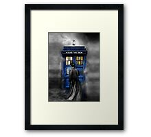 Mysterious Time traveller with Black suit Framed Print