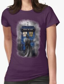 Mysterious Time traveller with Black suit Womens T-Shirt