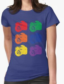 ROYGBV Camera Womens Fitted T-Shirt