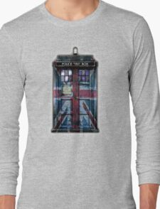 British Union Jack Space And Time traveller Long Sleeve T-Shirt