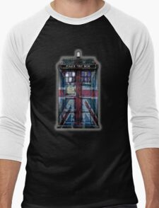 British Union Jack Space And Time traveller Men's Baseball ¾ T-Shirt