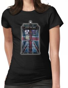 British Union Jack Space And Time traveller Womens Fitted T-Shirt