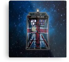 British Union Jack Space And Time traveller Metal Print
