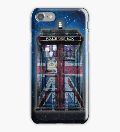 British Union Jack Space And Time traveller iPhone Case/Skin