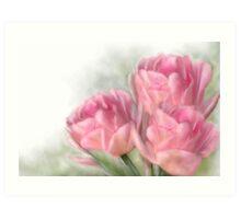 Angelique Tulips Art Print
