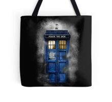 Haunted blue phone booth Tote Bag