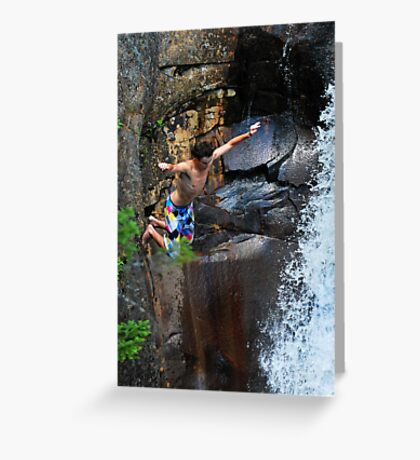 Smalls Falls Leap of Faith #3 Greeting Card