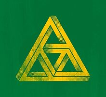 TRIFORCE IMPOSSIBLE TRIANGLE ZELDA LINK by SourKid