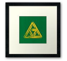TRIFORCE IMPOSSIBLE TRIANGLE ZELDA LINK Framed Print