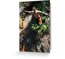 Smalls Falls Leap of Faith #4 Greeting Card