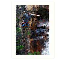Smalls Falls Leap of Faith #7 Art Print