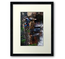 Smalls Falls Leap of Faith #7 Framed Print