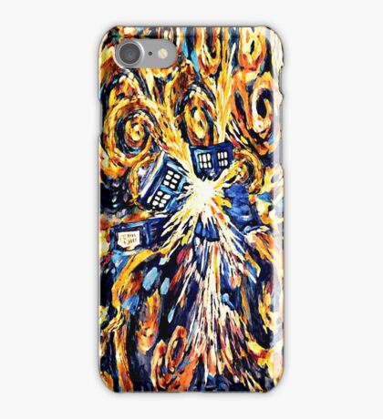 Big Bang Attack Exploded Flamed Phone booth painting iPhone Case/Skin