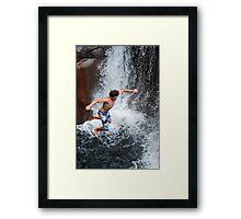 Smalls Falls Leap of Faith #9 Framed Print
