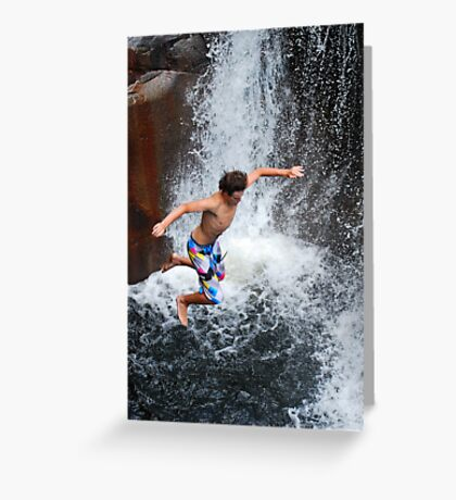 Smalls Falls Leap of Faith #9 Greeting Card