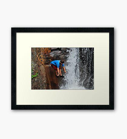 Smalls Falls Leap of Faith #11 Framed Print