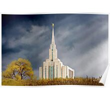 Oquirrh Mountain Sunburst 20x30 Poster
