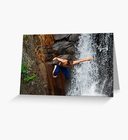 Smalls Falls Leap of Faith #12 Greeting Card