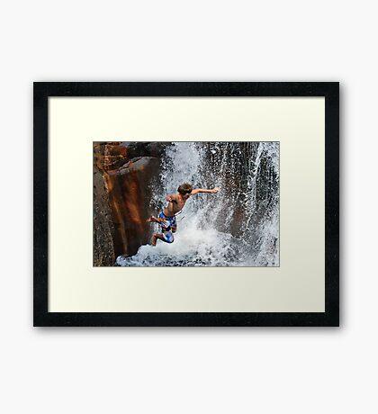 Smalls Falls Leap of Faith #13 Framed Print