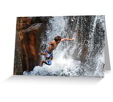 Smalls Falls Leap of Faith #13 Greeting Card