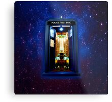 Space And Time traveller Box that More Bigger on the inside Metal Print
