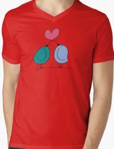 Love Birds Doodle Mens V-Neck T-Shirt