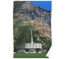 Provo Temple Summer Mountain 20x30 Poster