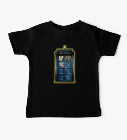 Space And Time traveller Box With yellow stained glass Baby Tee