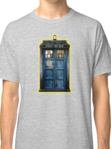 Space And Time traveller Box With yellow stained glass Classic T-Shirt