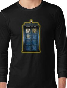 Space And Time traveller Box With yellow stained glass Long Sleeve T-Shirt