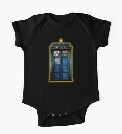 Space And Time traveller Box With yellow stained glass One Piece - Short Sleeve