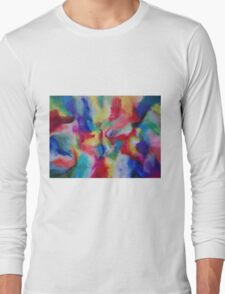 """Euphoria"" original abstract artwork by Laura Tozer Long Sleeve T-Shirt"