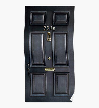 Black Door with 221b number Poster