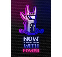 Retro Gaming Nostalgia: Power Glove Photographic Print