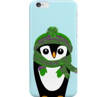 Penguin Hat, Scarf and Mittens iPhone Case/Skin