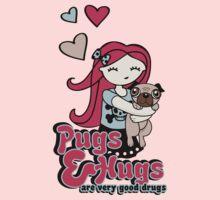 Pugs and Hugs One Piece - Long Sleeve