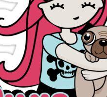 Pugs and Hugs Sticker